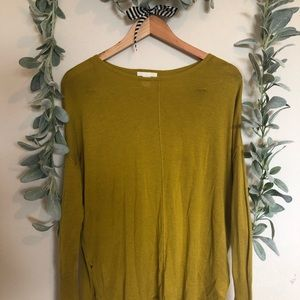 H&M Chartreuse Scoop Neck Sweater Sz XS